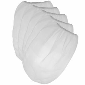 Pack Of 25 Paint Strainer White Fine Mesh Disposable Bag Filters With Elastic