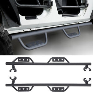For 2007 2017 Jeep Wrangler Jk 4 door Drop Side Step Nerf Bars Running Boards