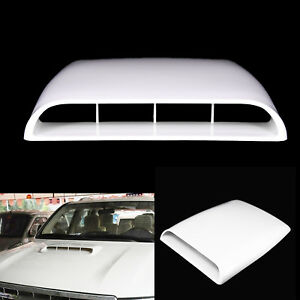Universal Car Roof Air Flow Intake Hood Scoop Vent Bonnet Cover White Black