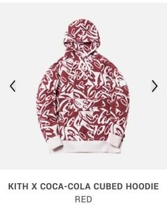 Kith x Coca-Cola Cubed Hoodie Red Coke NWT Sz L