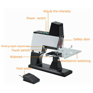 Electric Auto Rapid Stapler Flat saddle Binder Machine Book Binding Machine 110v