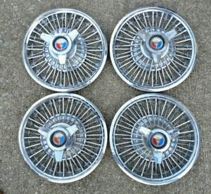 1960 s 1965 Ford Mustang falcon fairlane galaxie 14 Wire Spinner Hubcaps