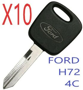 New Uncut H72 Pt Transponder Chip Key Ford Lincoln Mercury Mazda 4c
