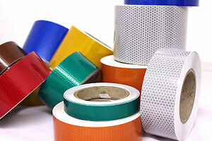 New In High Intensity Reflective Self adhesive Tape Vinyl Honeycomb Choose Size