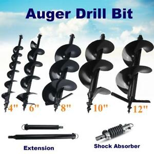 4 6 8 10 12 Post Hole Digger Earth Augers Bits Shock Absorber Extension