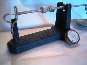 vintage Pacific reloading bar scale for gun powder bullets brass with weights