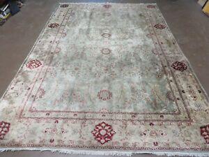 6 X 9 Vintage Hand Made Chinese Persian Tabriz Kashan Silk Rug Carpet Nice Blue