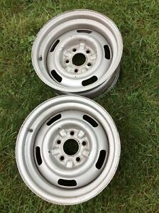 1968 Corvette Rally Wheels 15 X 7 Code Ag 2 Wheels Rare