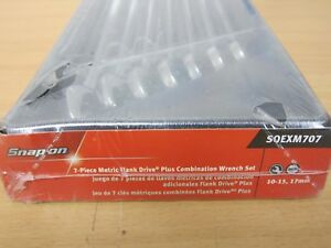 New Snap On Soexm707 7 Pc 12 point Metric Flank Drive Plus Standard Comb Wrench