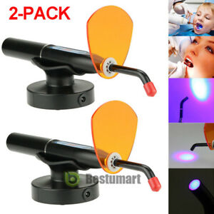 2 Packs New Dental 10w Wireless Cordless Led Curing Light Lamp 2000mw Us Ship