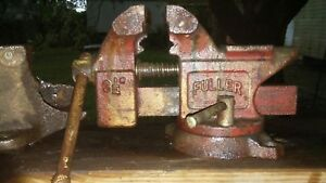 Vintage Fuller Combination Swivel Bench Vise 3 5 Jaws 9 25 Lbs