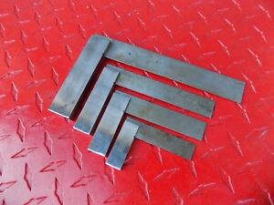 Moore Wright No 400 Machinist Solid Steel Precision Square Set 4 Pc England