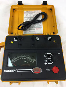 Biddle Megger Avo Bm11 5kv Battery Megger Insulation Resistance New Batteries