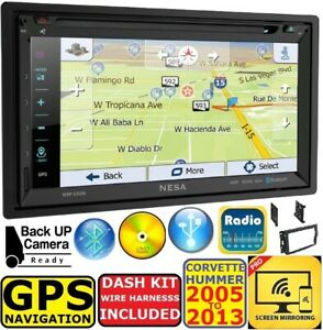 Corvette Hummer H3 Gps Navigation System Bluetooth Cd dvd Car Radio Stereo