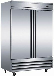 New Two 2 Door Commercial Stainless Reach In Freezer Cfd 2ff Restaurant Cooler