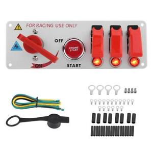 12v Racing Car Ignition Switch Panel Engine Start Led Push Button Toggle Panel A