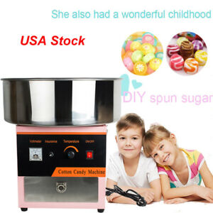 Usa electric safty use diy home cotton candy maker mini portable sugar machine