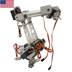 6dof Mechanical Robotic Arm Clamp With Servos Diy Kit Unassembled Us Seller