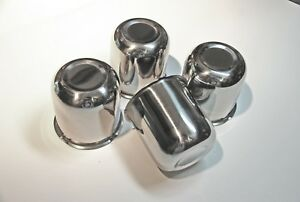 3 3 Stainless Push Through Wheel Center Caps Set Of 4