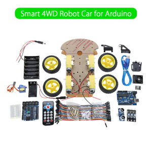 Smart Car Tracking Motor Smart Robot Car Chassis Kit 4wd For Arduino Mcu Starter