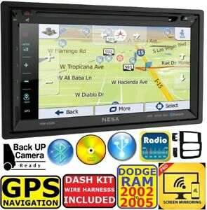 02 03 04 05 Dodge Ram Navigation Cd dvd Bluetooth Usb Gps Stereo Radio System