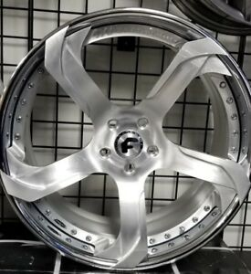 21 22 Forgiato S2 19 Ecl Concaved 3 piece Wheels Brushed Corvette C7 Stingray