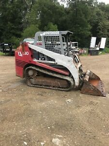 Takeuchi Tl130 Skid Steer Track Tractor Loader Nice Machine l k