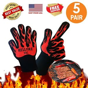 Bonus Bbq Oven Gloves Best Protective High Quality Work bake Cooking 5 Pairs