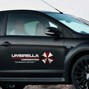 1pc Umbrella Corporation Decal Auto Doors Scratch Waist Line Pet Car Sticker