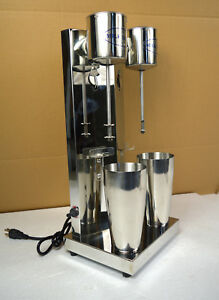 Commercial Stainless Steel Milk Shake Machine Double Head Drink Mixer 110v