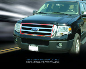 Black Billet Grille Grill Upper Grill For Ford Expedition 2007 2014