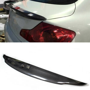Rear Trunk Spoiler Lid Wing Lip For Infiniti G37 Sedan 2010 2013 Carbon Fiber