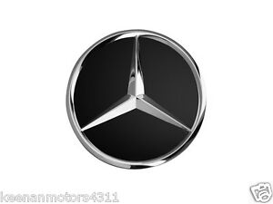 Genuine Oem Mercedes Benz Black W Chrome Wheel Center Insert Cap