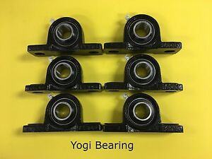 6pcs 1 1 4 Inch Pillow Block Bearing Ucp207 20 Solid Base High Quality