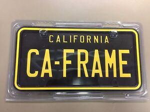 Black And Yellow California License Plate Frame 2 Pack
