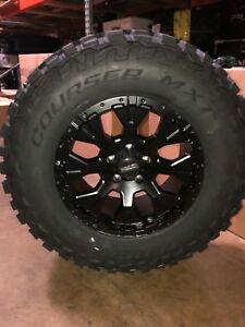 Helo He878 17x9 Wheels Rims 33 Mxt Mt Tires Package 6x5 5 Toyota Tacoma