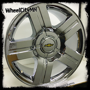22 Inch Chrome 2012 Chevy Silverado 1500 Texas Oe Replica 4738 Wheels Ltz 6x5 5
