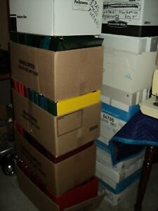 Lof Of 1 000 Used 3 ring Vinyl Binders Various Colors Sizes From 1 2 To 5