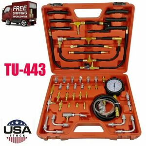 0 140 Psi Manometer Fuel Injection Pressure Tester Gauge Test Adapter Kit Tu 443
