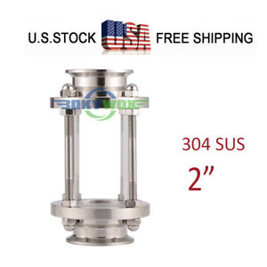 2 Flow Stainless Steel 304 Tri Clamp Sanitary Sight Glass Food Grade