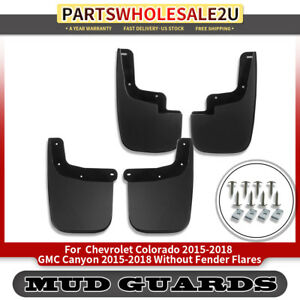 New 4x Mud Flaps Mud Guard Splash Guards For 15 18 Chevrolet Colorado Gmc Canyon