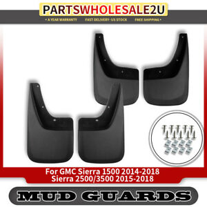 4x Mud Flaps Splash Guards For 2014 18 Gmc Sierra 1500 2500 Hd 3500 Hd 22902396