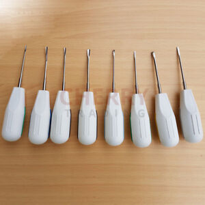 Luxating Elevators Set Dental Surgical Instruments Luxator Elevator 8 Pcs