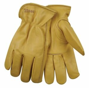 Kinco Unlined Grain Cowhide Work Gloves Size Large Construction Farm 3 Pairs
