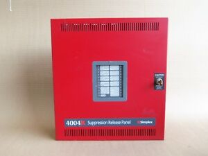 Simplex 4004r 4004 9302 Suppression Release Panel With Key Fire Alarm