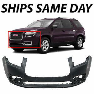 New Primered Front Bumper Cover Fascia Replacement For 2013 2016 Gmc Acadia