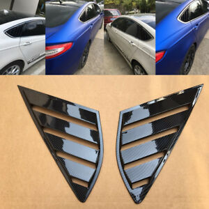 2pcs Abs Rear Quarter Panel Window Side Louvers Vent For Ford Fusion Mondeo 4d