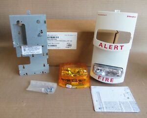 New Simplex 4906 9211 Amber And Clear White Wall Mount Strobe Fire Alarm