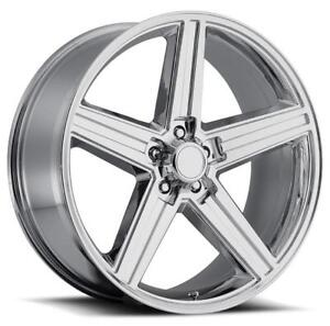 4 New Iroc 24x10 5x127 10 Chrome Wheels Chevrolet Gmc Silverado Tahoe Suburban