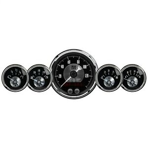 Autometer 2024 Prestige Series Black Diamond Gauge Kit
